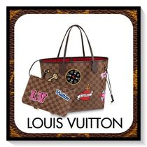 Louis Vuitton NEVERFULL Other Check Patterns Canvas Blended Fabrics Totes