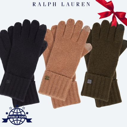 Casual Style Wool Plain Gloves Gloves
