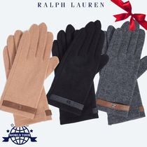 Ralph Lauren Casual Style Wool Plain Gloves Gloves