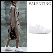 VALENTINO Street Style Leather Low-Top Sneakers