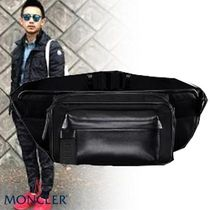 MONCLER Street Style 3WAY Plain Leather Bags
