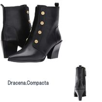 Nine West Casual Style Plain Leather Block Heels Ankle & Booties Boots