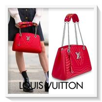 Louis Vuitton Calfskin Blended Fabrics 2WAY Chain Plain Elegant Style