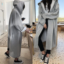 Casual Style Unisex Plain Long Oversized Wrap Coats