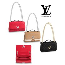 Louis Vuitton Monogram 2WAY Leather Elegant Style Handbags