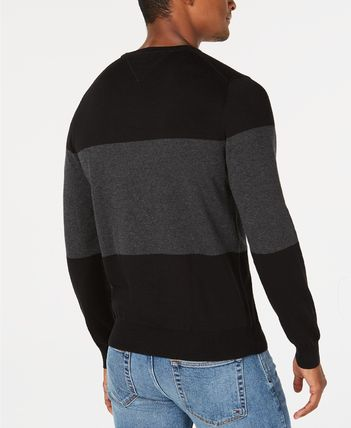 Tommy Hilfiger Knits & Sweaters Crew Neck Bi-color Long Sleeves Cotton Knits & Sweaters 3