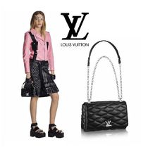 Louis Vuitton Lambskin Elegant Style Handbags