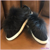 D SQUARED2 Round Toe Rubber Sole Plain Leather Elegant Style