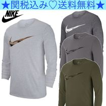 Nike Crew Neck Pullovers Camouflage Long Sleeves Cotton