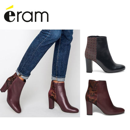 Leather Elegant Style High Heel Boots