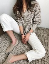 Leopard Patterns Wool Long Sleeves Cardigans