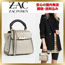 ZAC ZAC POSEN Calfskin 2WAY Plain Elegant Style Shoulder Bags