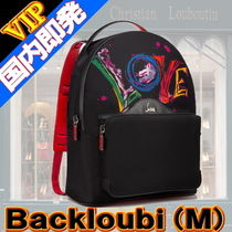 Christian Louboutin Unisex Studded Street Style A4 2WAY Bi-color Backpacks