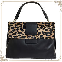 GIANNI CHIARINI Leopard Patterns Spawn Skin Handbags
