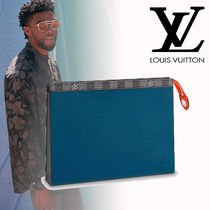 Louis Vuitton Leather Clutches