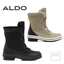 ALDO Mountain Boots Round Toe Casual Style Faux Fur Plain