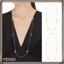 FENDI Costume Jewelry Chain Party Style With Jewels