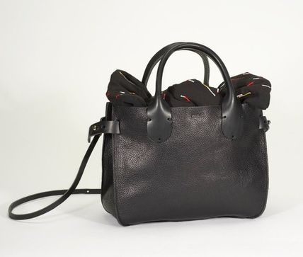 2WAY Plain Leather Handbags