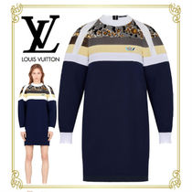 Louis Vuitton Stripes Flower Patterns Casual Style Long Sleeves Cotton