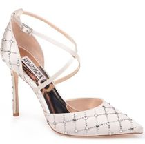Badgley Mischka Pin Heels With Jewels Elegant Style Shoes