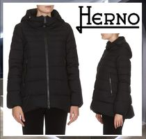 HERNO Street Style Plain Medium Down Jackets