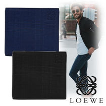 LOEWE Plain Leather Folding Wallets