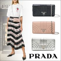 PRADA DIAGRAMME Lambskin 2WAY Chain Clutches