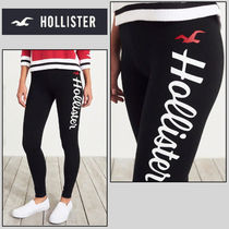Hollister Co. Casual Style Street Style Plain Cotton Long Bottoms
