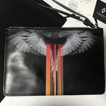 Marcelo Burlon Street Style Leather Clutches