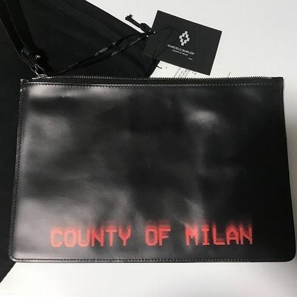 Street Style Leather Clutches