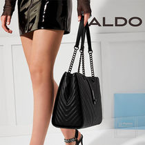 ALDO Faux Fur A4 Chain Office Style Oversized Shoulder Bags
