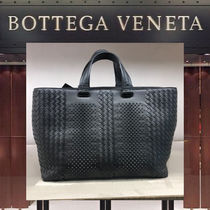 BOTTEGA VENETA Lambskin Studded A4 2WAY Plain Totes