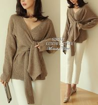 V-Neck Long Sleeves Sweaters