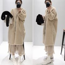 Casual Style Faux Fur Street Style Plain Long