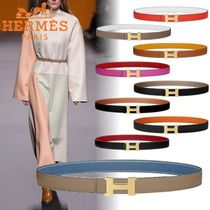 HERMES CONSTANCE Unisex Plain Leather Elegant Style Belts