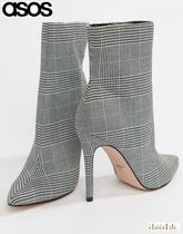 ASOS Other Check Patterns Casual Style Pin Heels