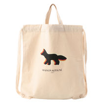 MAISON KITSUNE Casual Style Unisex A4 Other Animal Patterns Totes