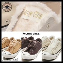 CONVERSE ALL STAR Casual Style Fur Blended Fabrics Street Style