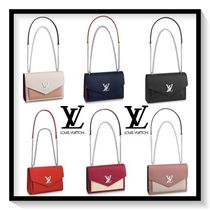 Louis Vuitton MY LOCKME  Calfskin Blended Fabrics 2WAY Chain Plain Elegant Style