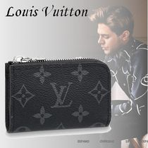 Louis Vuitton Monoglam Unisex Leather Coin Cases