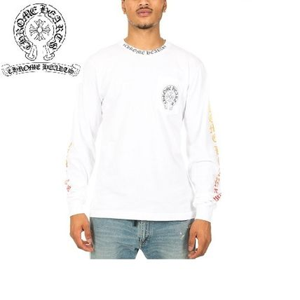 CHROME HEARTS Long Sleeve Boat Neck Long Sleeves Cotton Long Sleeve T-Shirts