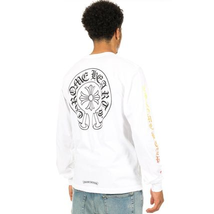 CHROME HEARTS Long Sleeve Boat Neck Long Sleeves Cotton Long Sleeve T-Shirts 3