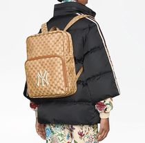GUCCI Unisex Canvas Street Style Backpacks