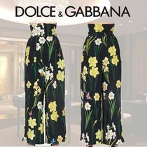 Dolce & Gabbana Flower Patterns Culottes & Gaucho Pants