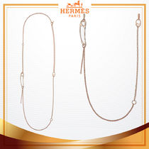 HERMES Chain 18K Gold Necklaces & Pendants