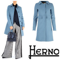HERNO Wool Blended Fabrics Plain Medium Chester Coats