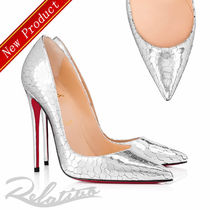 Christian Louboutin So Kate Leather Pin Heels Elegant Style Pointed Toe Pumps & Mules