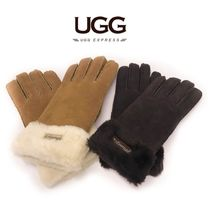 Casual Style Plain Leather Leather & Faux Leather Gloves