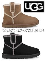 UGG Australia CLASSIC MINI Rubber Sole Casual Style Sheepskin Plain