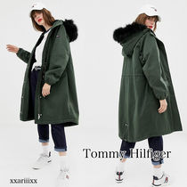 Tommy Hilfiger Casual Style Fur Blended Fabrics Street Style Plain